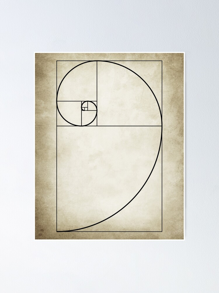 Alternate view of Mathematical Golden Ratio Poster