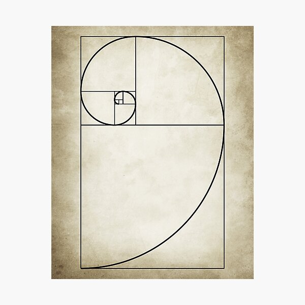 Mathematical Golden Ratio Photographic Print