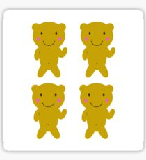 Happy cute sweet Teddies gold Sticker