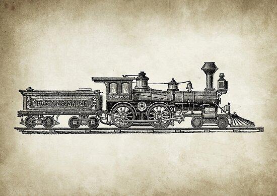Vintage Locomotive by Igor Drondin