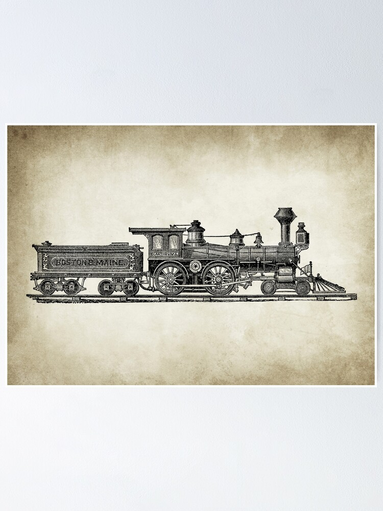 Alternate view of Vintage Locomotive Poster