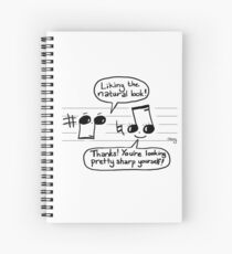 Musical Compliments Spiral Notebook