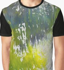 Silver Swamp - Abstract Painting Graphic T-Shirt