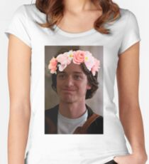 James McAvoy Flower Crown Women's Fitted Scoop T-Shirt