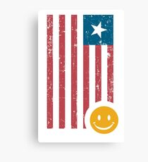 Smile and Flag Canvas Print