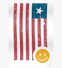 Smile and Flag Poster