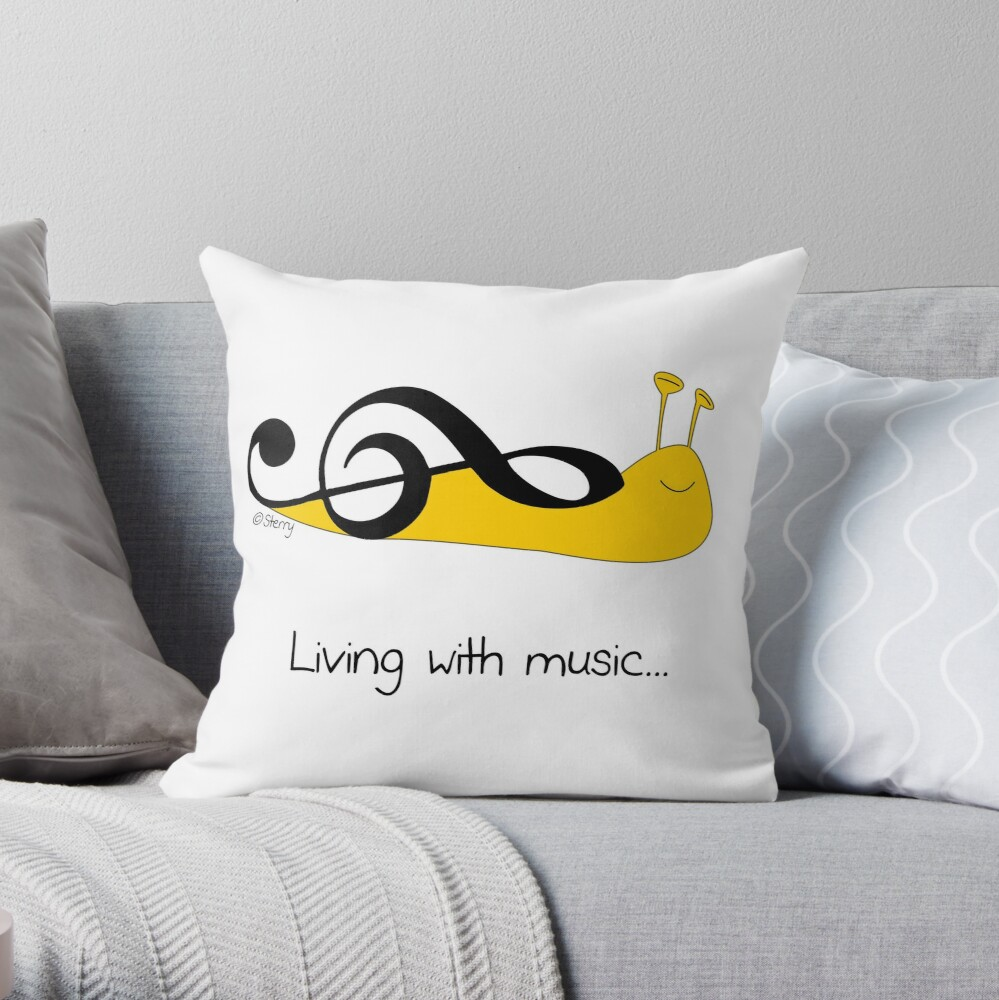 The Snail Clef Throw Pillow