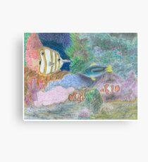 The Corel Reef - Oil Pastels Metal Print
