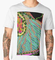 Fabrics of the Neon Tropical Fractal Jungle Men's Premium T-Shirt