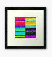 Pop art 4 square stripes Framed Print