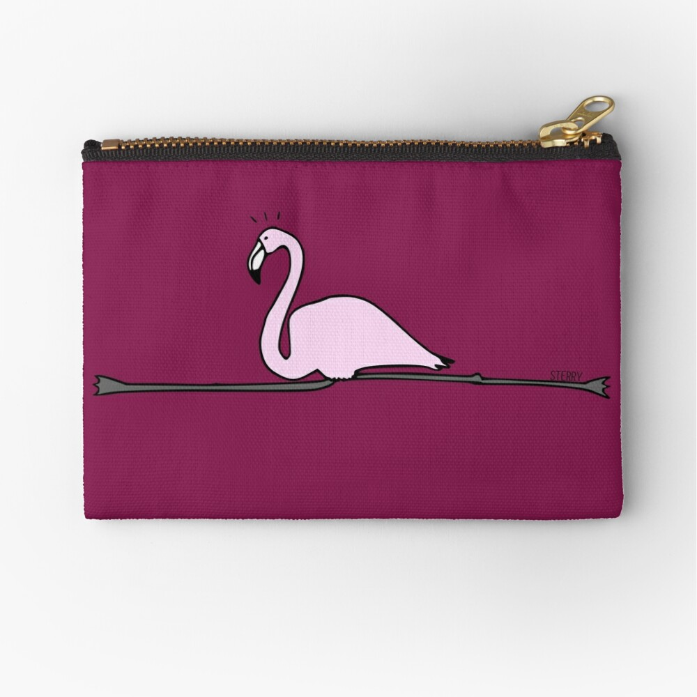 Flamingo Gymnastics Zipper Pouch