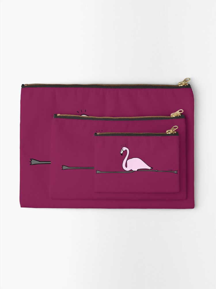 Alternate view of Flamingo Gymnastics Zipper Pouch