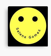 Selena Gomez Smiley Face Canvas Print