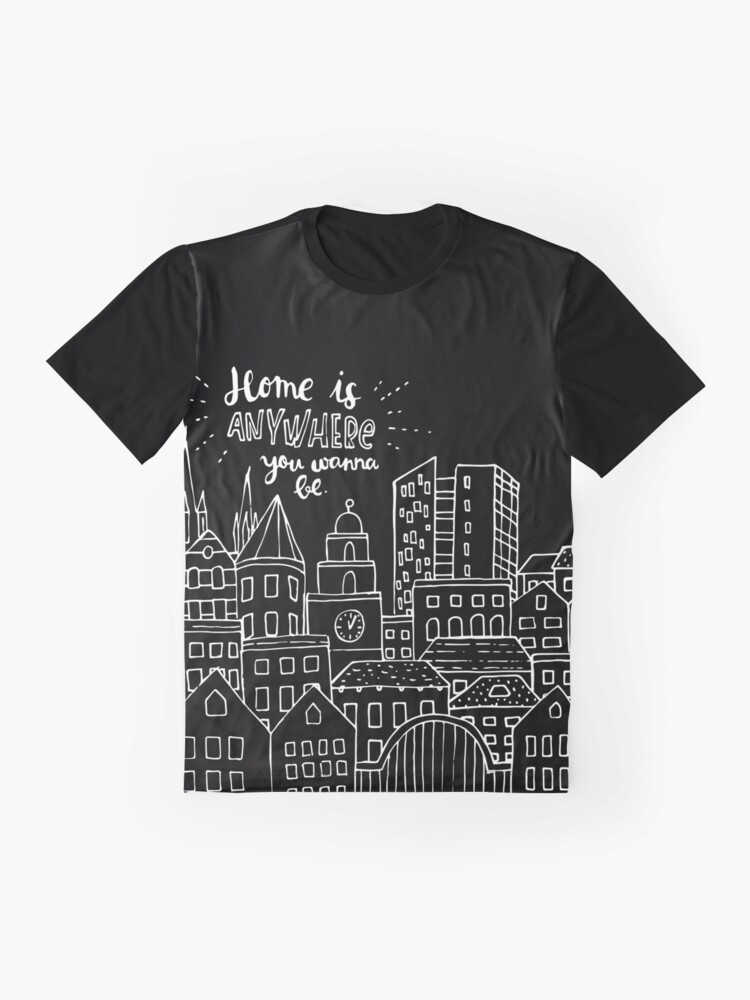 Alternate view of Home is anywhere - Colorful Graphic T-Shirt