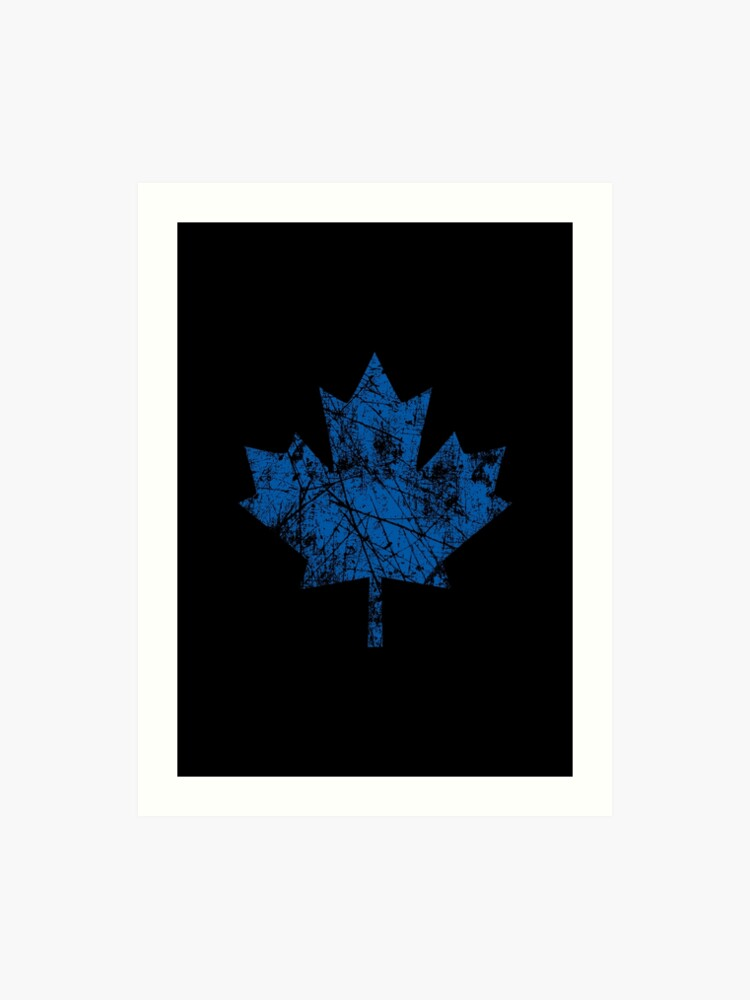 af7c71cc0426 Canadian Maple Leaf Grunge Distressed Style in Blue