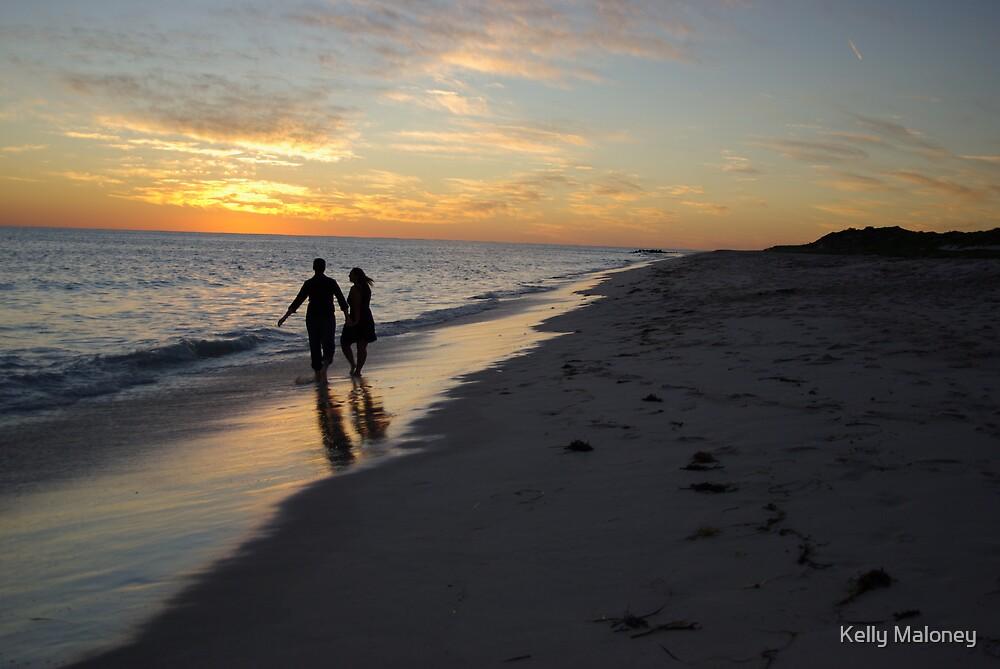 walking at sunset by Kelly Maloney