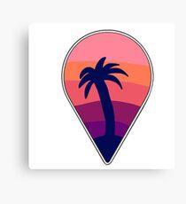 send me ur location: paradise Canvas Print