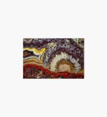 Crazy lace agate gemstone texture Art Board