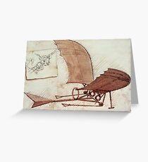 Da Vinci's flying machine Greeting Card