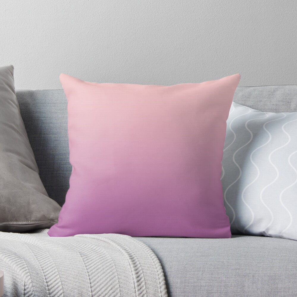 OMBRE Gradient Radiant Orchid/ Bubblegum Throw Pillow