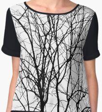 Tree Branches P&B Women's Chiffon Top