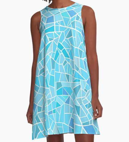 AFE Abstract Mosaic Pattern A-Line Dress