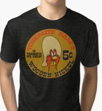 Yosemite Sam's Wooden Nickel - Looney Tunes: Back In Action Tri-blend T-Shirt