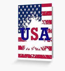 Men's T-Shirts I LOVE USA Greeting Card