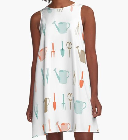 AFE Gardening Tools Pattern A-Line Dress
