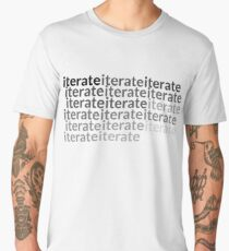 Iterate Word Graphic for Design and Engineering Men's Premium T-Shirt