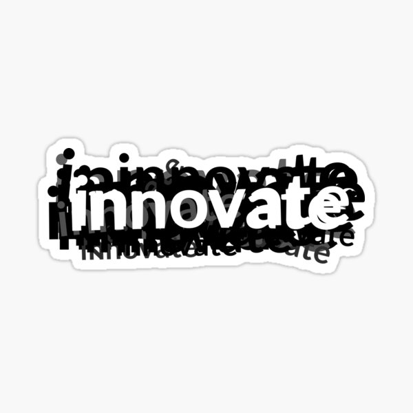 Innovate Word Graphic for Design and Engineering Sticker