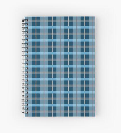 AFE Blue Plaid Pattern Spiral Notebook
