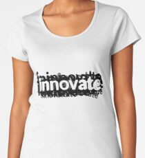 Innovate Word Graphic for Design and Engineering Women's Premium T-Shirt