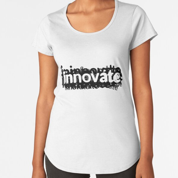 Innovate Word Graphic for Design and Engineering Premium Scoop T-Shirt