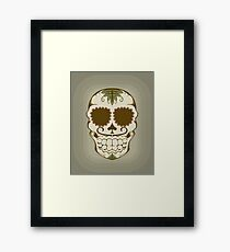 Illustration of sugar skull  Framed Print