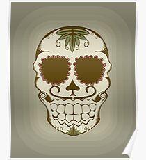Illustration of sugar skull  Poster