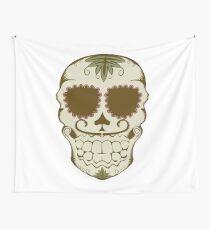 Illustration of sugar skull  Wall Tapestry