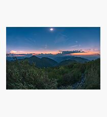 Total Eclipse over the Great Smoky Mountains, Tennessee Photographic Print