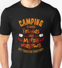 Camping Friends and Marshmallows T-Shirt