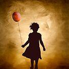 A girl and her balloon by Kurt  Tutschek