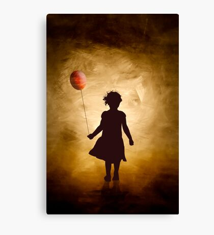 A girl and her balloon Canvas Print