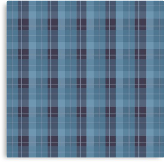 AFE Blue Plaid Pattern II by Amalia Ferreira-Espinoza