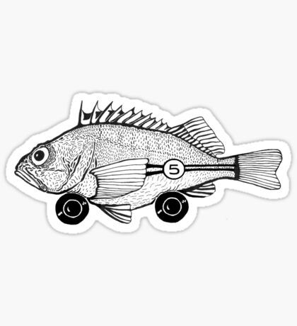 Racing Fish Sticker