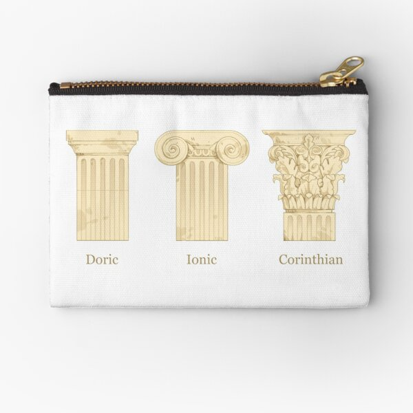 Column Orders - Creme Zipper Pouch