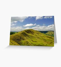 Rushup Edge from Mam Tor Greeting Card
