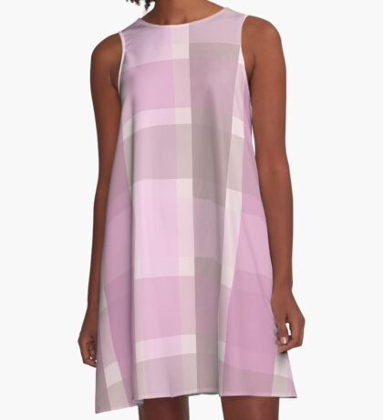 AFE Pastel Plaid Pattern A-Line Dress