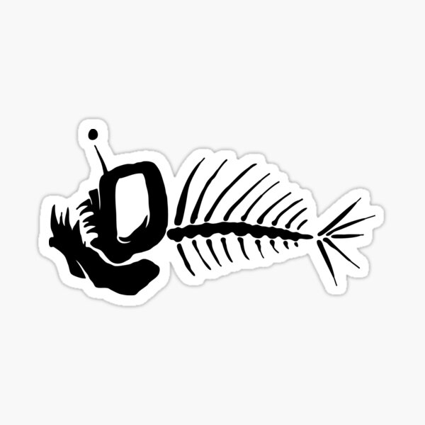Angler Fish Bones Sticker
