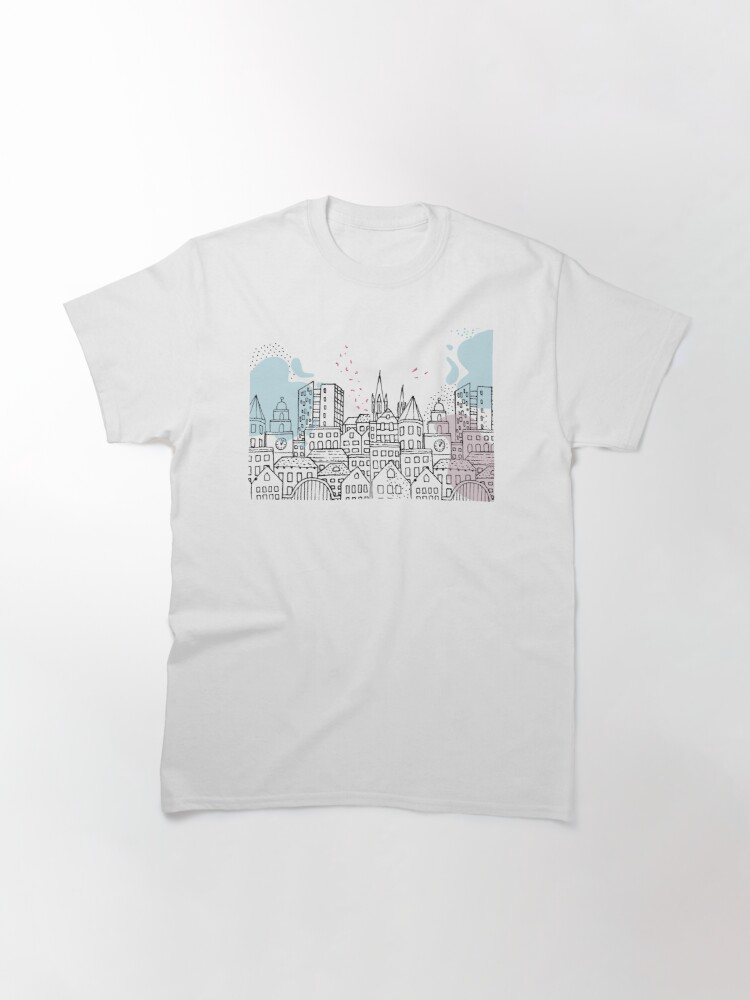 Alternate view of European city - Pastel drawing Classic T-Shirt