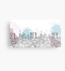 European city - Pastel drawing Metal Print