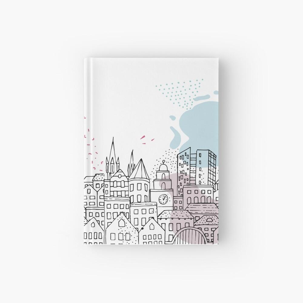European city - Pastel drawing Hardcover Journal